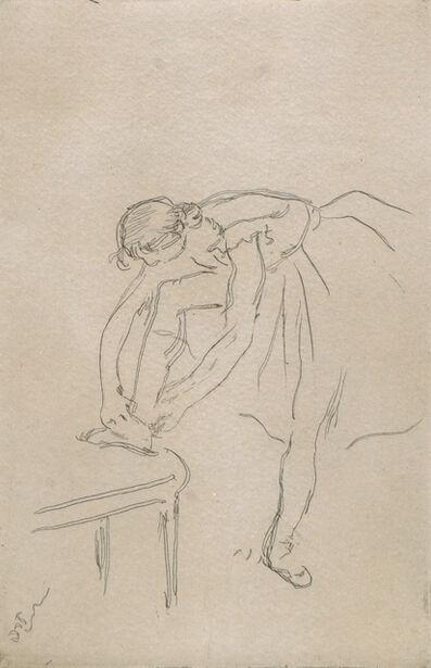 Edgar Degas, 'Danseuse Mettant son Chausson', 1880