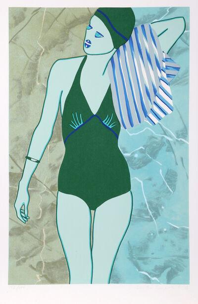 Kiki Kogelnik, 'Bathing in Green', 1978