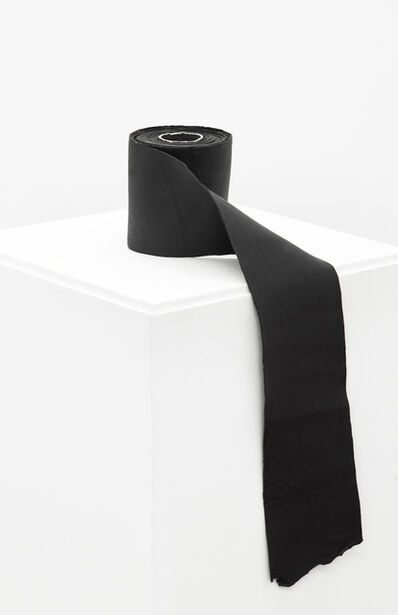 Eduardo Costa, 'Painting of a Black Paper Roll: Passage from Volume to Plane', 2014