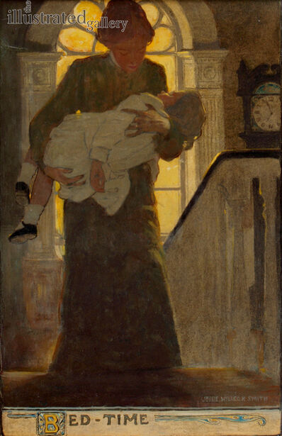 JESSIE WILLCOX SMITH, 'Bed-Time, Scribners Monthly Magazine Illustration', 1902