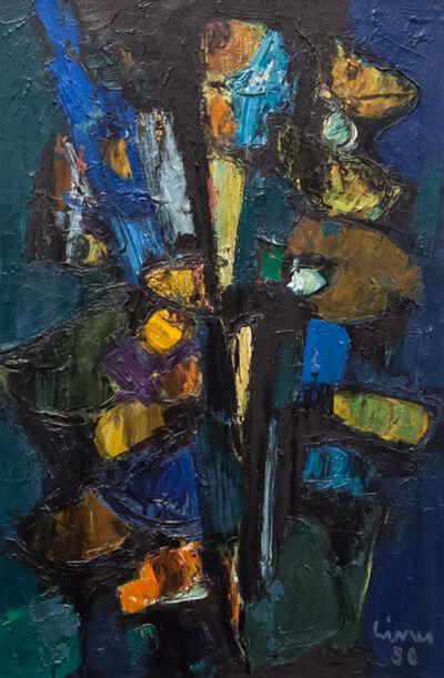 Carl Walter Liner, 'Composizione blu-verde-giallo-nero', 1956