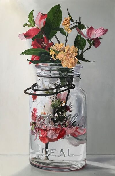Peggie Blizard, 'Spring Blossoms in a Clear Jar'