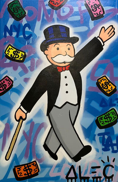Alec Monopoly, 'Monopoly Walking hand up', 2019