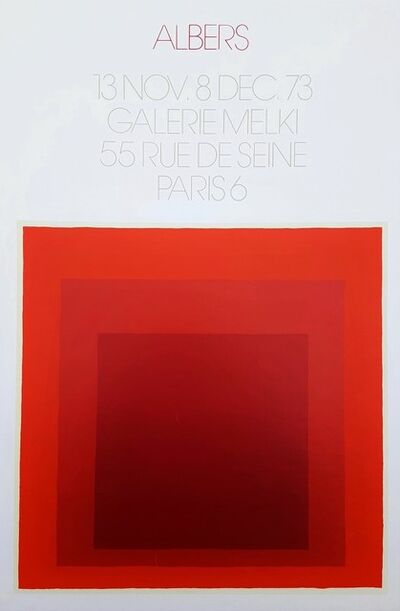 Josef Albers, 'Galerie Melki (Homage to the Square)', 1973