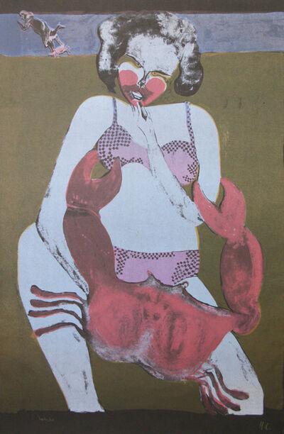 Francisco Toledo, 'Femme au Crabe (Fond Noir)'