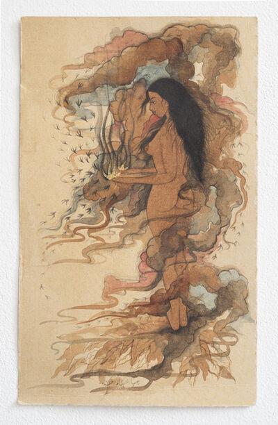 Hiba Schahbaz, 'Untitled  (Work in Tea)', 2015