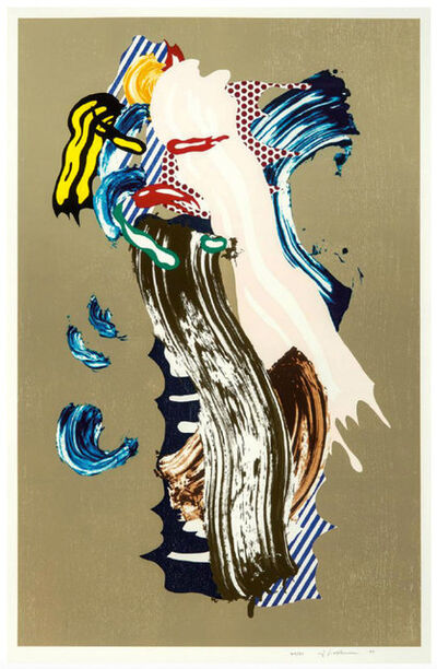 Roy Lichtenstein, 'Blonde (from Brushstroke Figures Series)', 1989