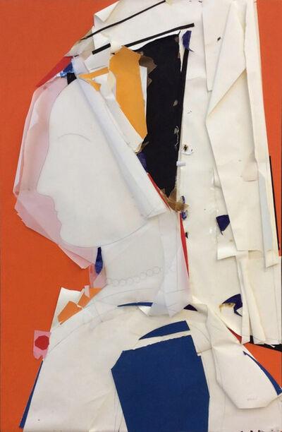 Manolo Valdés, 'Perfil con Fondo Naranjo', 2008
