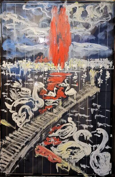 Norma de Saint Picman, 'Fontaine du sang - jets d'eau Genève, Hommage à Simon de Pury,  METAMORPHOSES - The Worlds of Change', 2020