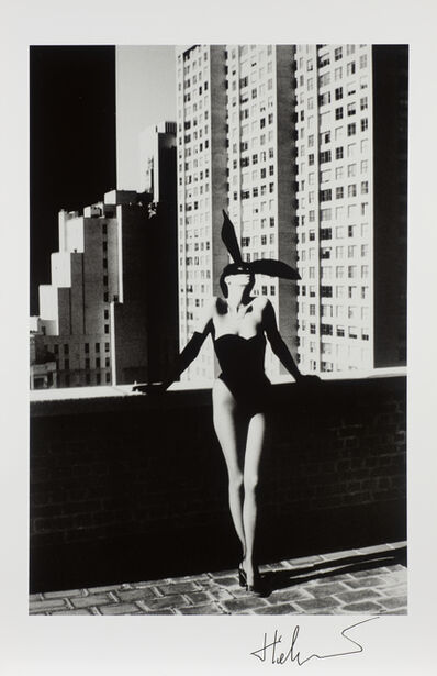 Helmut Newton, 'Elsa Peretti in a 'Bunny' costume by Halston', 1975-printed 1979