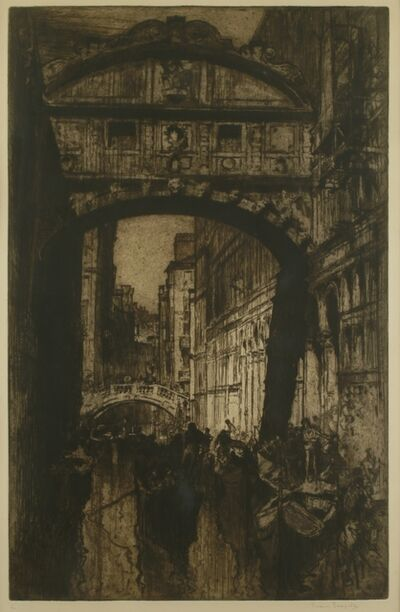Sir Frank Brangwyn, 'Bridge of Sighs, Venice', ca. 1910