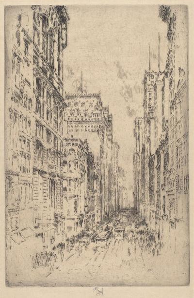 Joseph Pennell, 'Lower Broadway', 1904