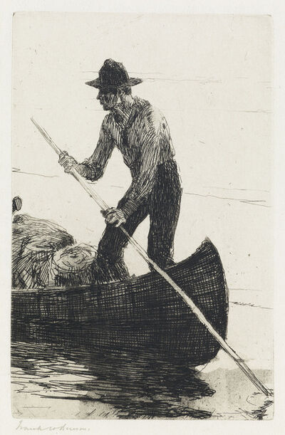 Frank Weston Benson, 'Riverman.', 1920