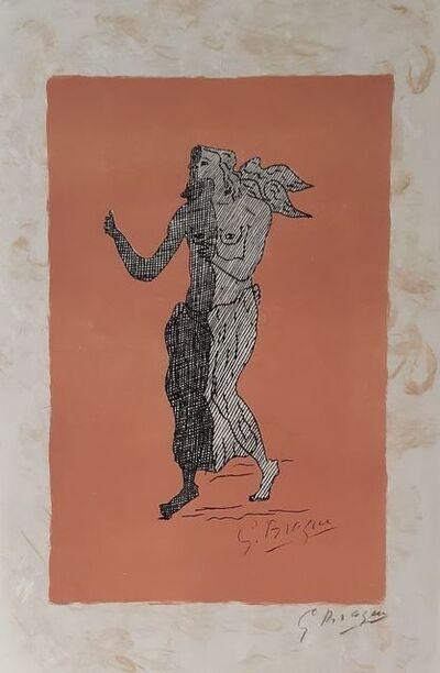 Georges Braque, 'Personnage sur fond rose ', 1960