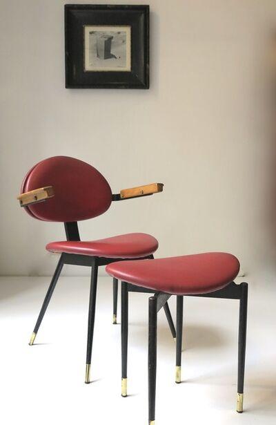 Carlo Mollino, 'Armchair and footrest', 1959