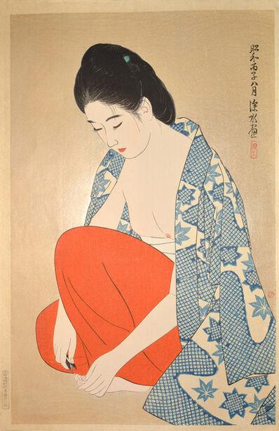 Itō Shinsui, 'Clipping Nails', 1936