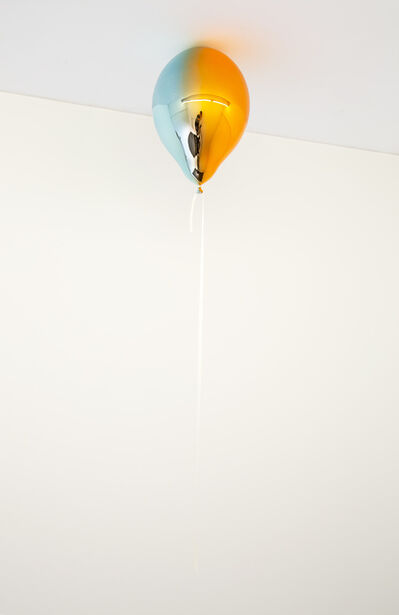 Jeppe Hein, 'Light Blue and Medium Orange Mirror Balloon (vertical)', 2019