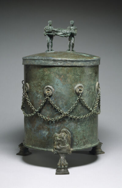 'Cista Depicting a Dionysian Revel and Perseus with Medusa's Head', 4th-3rd century B.C.