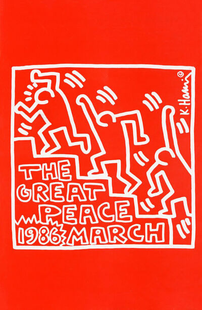 Keith Haring, ' Keith Haring The Great Peace March Benefit Palladium 1986', 1986
