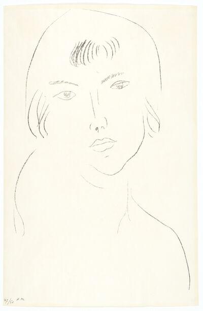 Henri Matisse, 'Visage à la frange', 1913