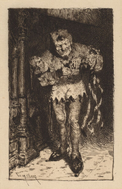 William Merritt Chase, 'Keying Up: The Court Jester', ca. 1875
