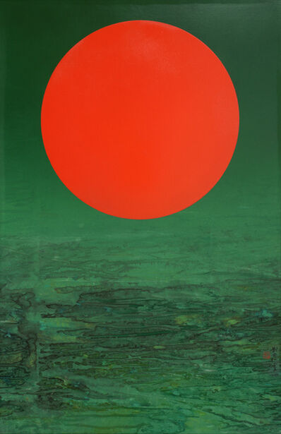 Liu Kuo-sung 刘国松, 'Red Sun', 2015