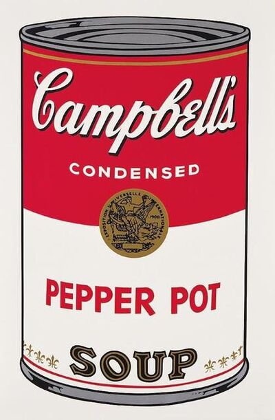 Andy Warhol, 'Pepper Pot Campbells Soup', 1968