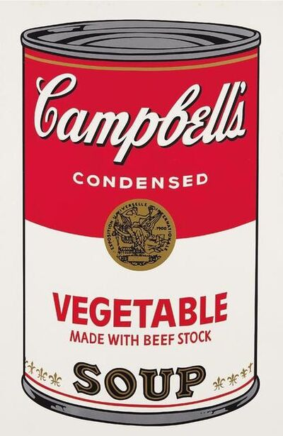 Andy Warhol, 'Vegetable made with beef stock Campbell's Soup', 1968