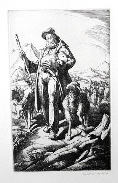 carl schultheiss, 'The Shepherd', 1891