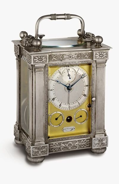 Abraham-Louis Breguet, 'Half-quarter repeating travel clock with alarm', 1826