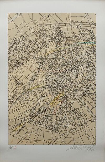 Lebbeus Woods, 'Aerial Paris Series, #1 -- City Map', 1989