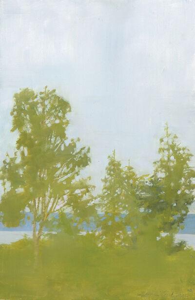Marilyn Turtz, 'Rain on Penobscot Bay, oil on wood, 12″ x 8″, $1,800'