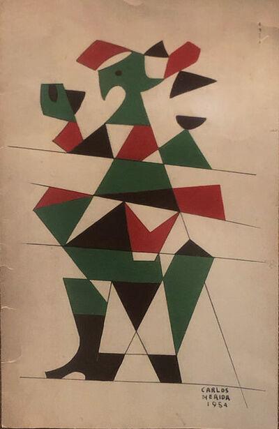 Carlos Merida, 'Estudio en verde', 1954