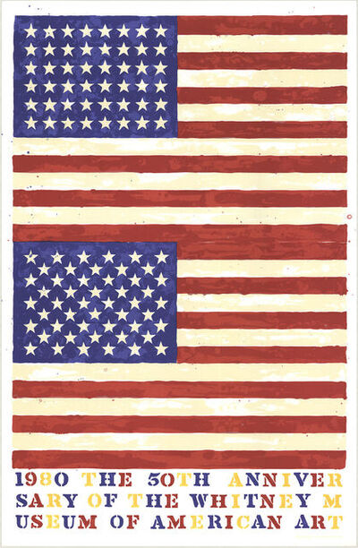 Jasper Johns, 'Whitney Museum 50th Anniversary (Double Flag)', 1979