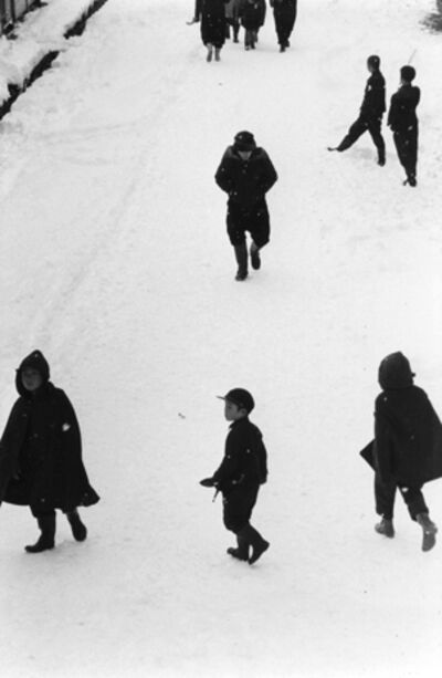 Kiichi Asano, 'Tokamachi, Japan, Children in Snow, February 1957', 1957-printed posthumously 2003