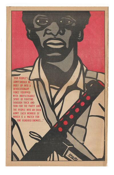 """Emory Douglas, '""""Our people's army should be built up into a revolutionary force...""""', 1970"""