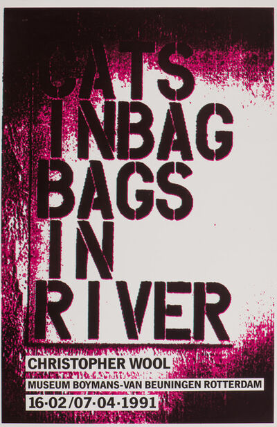 Christopher Wool, 'Cats in Bag', 1991
