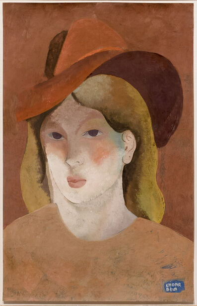 Béla Kádár, 'Woman with Hat', ca. 1930