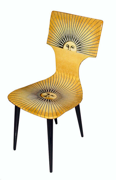 Piero Fornasetti, 'Set of four 'Sole' chairs', 1955