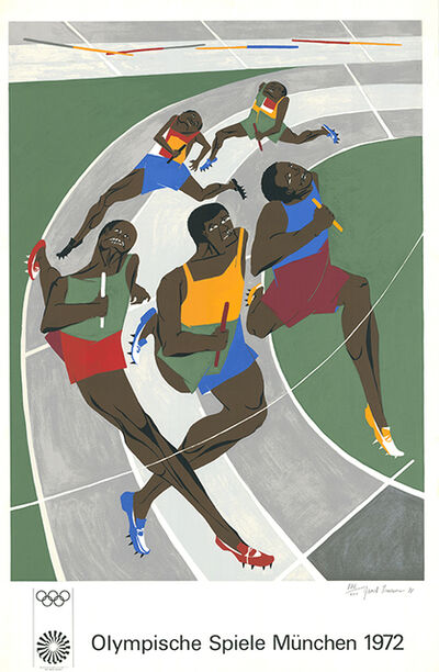 Jacob Lawrence, 'Olympische Spiele München 1972 (The Runners)', 1971