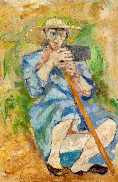 Fausto Pirandello, 'Donna con la zappa (Zappatrice stanca)', 1951