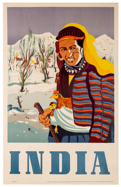 Vintage Travel Poster, 'Winter in India', 1950s