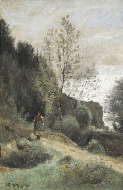 Jean-Baptiste-Camille Corot, 'Peasant on a Country Path', 1850-1855