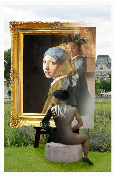 Bae Joon Sung, 'The Costume of painter- Vermeer, pearl & flower', 2012