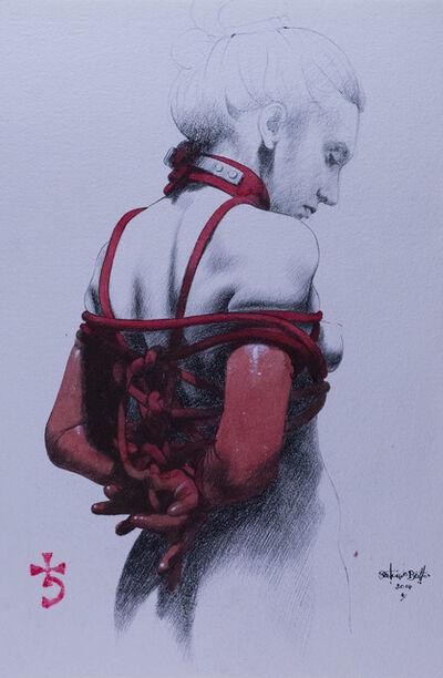 Saturno Butto, 'Sara in Bondage I', 2014