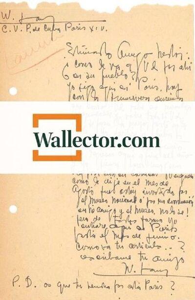 Wifredo Lam, 'Autograph Letter by Wifredo Lam', 1953