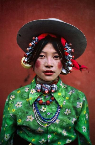 Steve McCurry, 'Woman at Horse Festival, Tagong, Tibet', 1999
