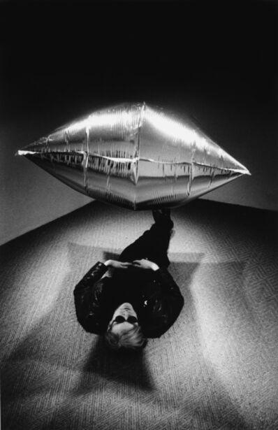 Steve Schapiro, 'Andy Warhol under the Silver Cloud Pillow', 1975