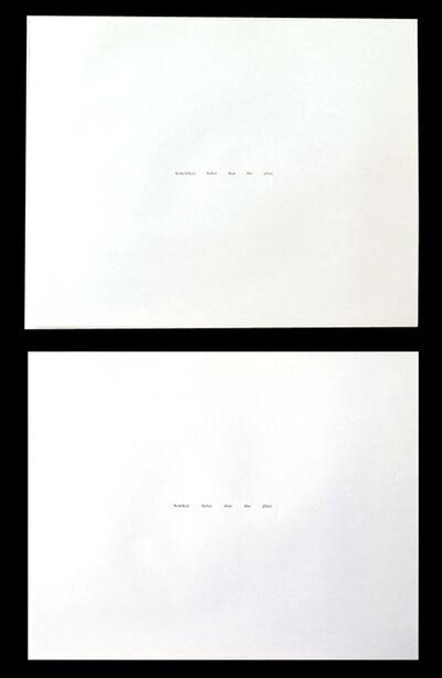 Felix Gonzalez-Torres, 'Nowhere Better Than This Place/Somewhere Better Than This Place', 1990