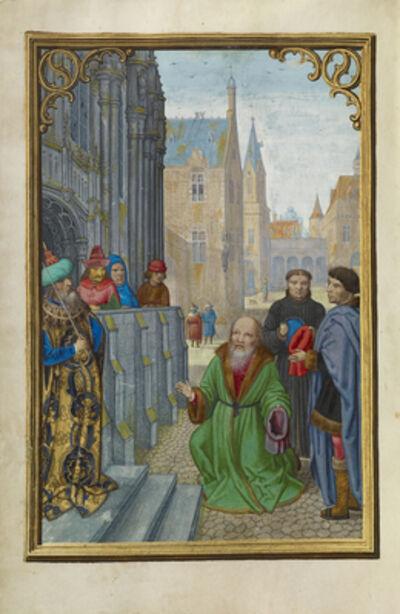 Simon Bening, 'Joseph of Arimathea Before Pilate', 1525-1530
